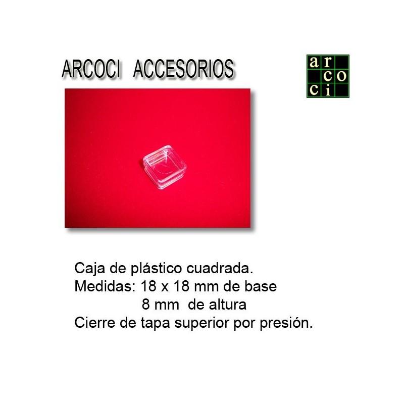 Caja de plástico 18 x18 mm