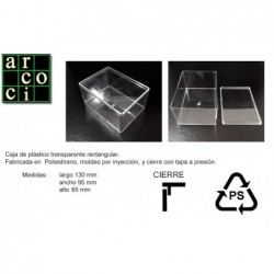 Caja de plástico 130 x 95 x 65