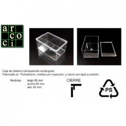Caja de plástico 95 x 65 x 45