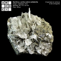 Baritina y pirita sobre esfalerita (Perú)
