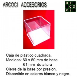 Caja de plástico 60 x 60 mm...