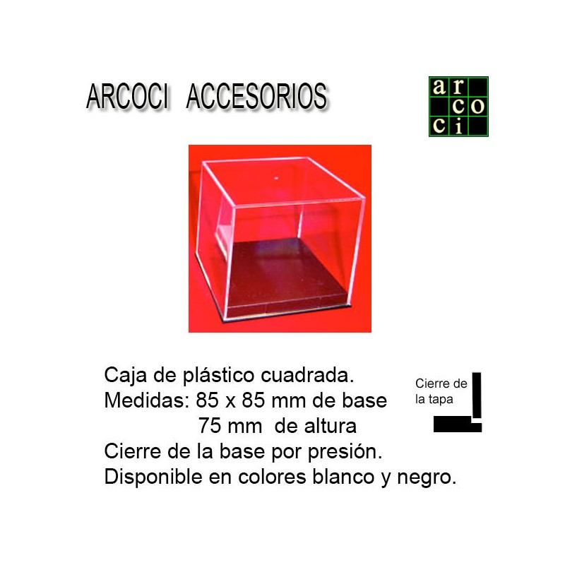 Caja de plástico 85 x 8,5 mm Base negra