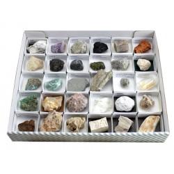 Colección de 30 minerales y...