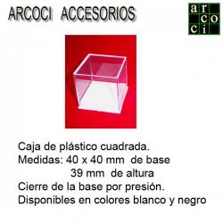 Caja de plástico 40 x 40 mm...