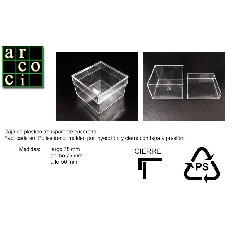 Caja de plástico 75 x 75 x 50