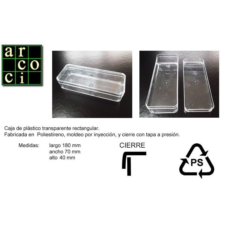 Caja de plástico 180 x 70 x 40