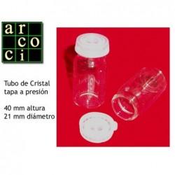 Tubo de cristal con tapón a presión