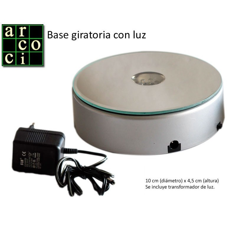 Base giratoria con luz
