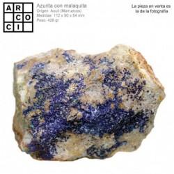 AZURITA  CON MALAQUITA (MARRUECOS)