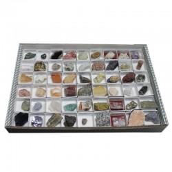 Colección de 108 rocas y minerales