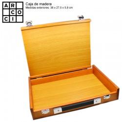 Caja de madera sin departamentos.