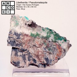 LIBETHENITA / PSEUDOMALAQUITA