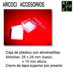 Caja de plástico con almohadilla